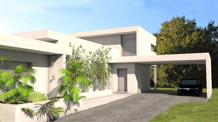 Villa D Architecte Contemporaine Avec Casquettes Et Porte