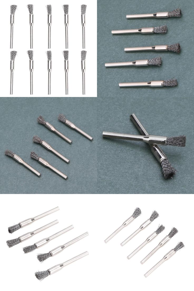 [Visit to Buy] Wholesale 10pcs 5mm Steel Wire Brushes Dremel Accessories for Rotary Polishing Dremel Tool Set #Advertisement