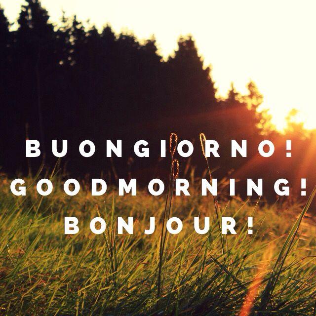 Buongiorno! Goodmorning! Bonjour!