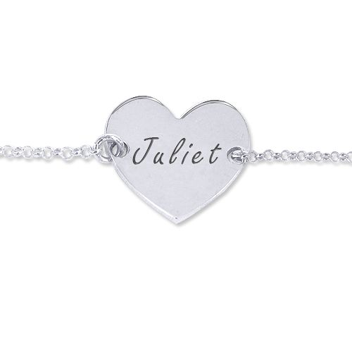 Sterling Silver Engraved Heart - I want to get this as a mother's bracelet.