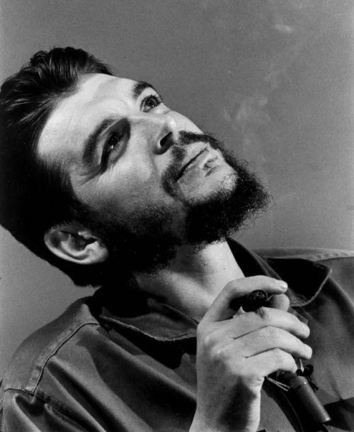 Che Guevara photographed by Elliott Erwitt during an interview with Lisa Howard in Havana, Cuba, 1964