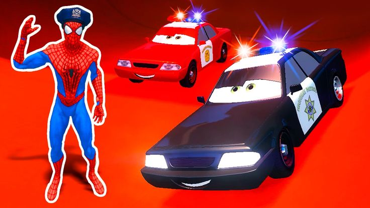 Video for KIDS with POLICE DISNEY CARS, Spiderman - Policeman, Songs for...