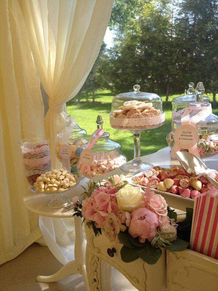 Pretty Vintage Lace Candy Buffet Wedding Pinterest