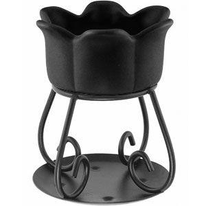 Yankee Candle Petal Bowl Tart Warmer - Black