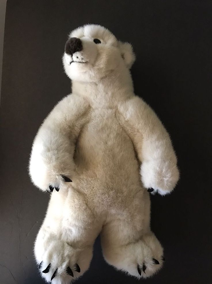 "Animal Planet Standing Polar Bear Plush Stuffed Animal 17"" Discovery Channel  #AnimalPlanet"