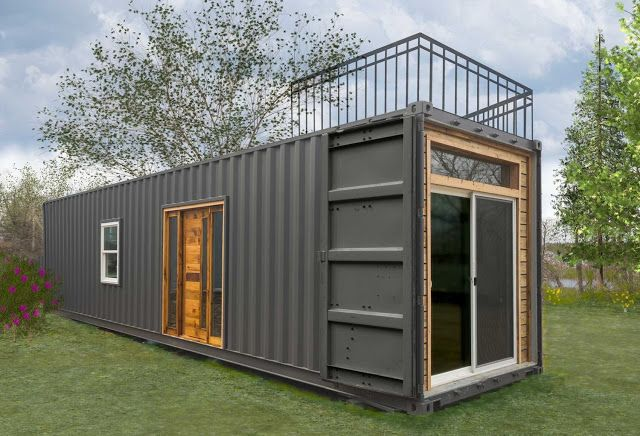 The Freedom: a 300 sq ft shipping container tiny home from Minimalist Homes.