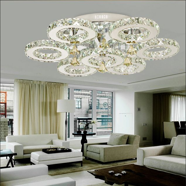 1000 images about lustre et plafonnier led on pinterest ceiling lamps modern crystal for Lampe salon pas cher