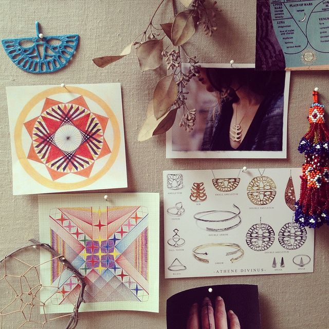fabric pinboard - Odette NY, via Flickr