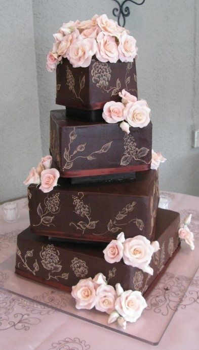 Something Sweet and CHOCOLATE! Wedding Cake