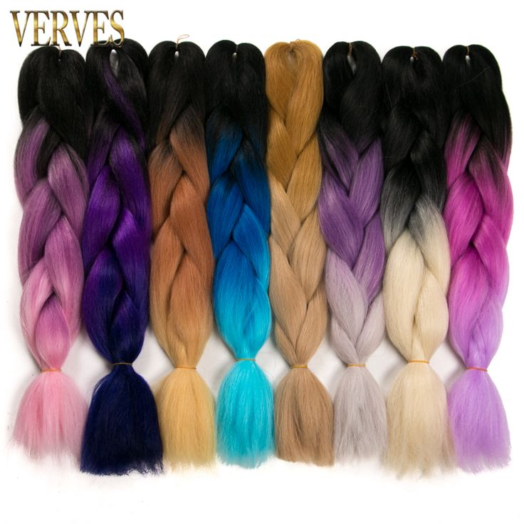 Cheap extension hair, Buy Quality extensions ombre directly from China extension braid Suppliers: Synthetic Two Tone High Temperature Fiber Ombre Braiding Hair 5 piece 24 inch VERVES Jumbo Braids Hair Extensions