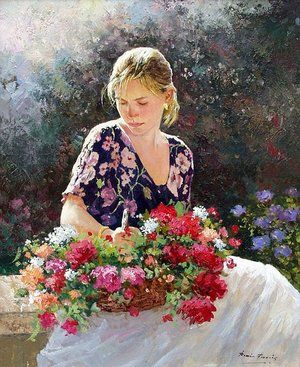 (ˆ◡ˆ)  –Beautiful   –Art •.¸¸❤¸¸•¨painting -art by Jose_Miguel_Roman_Frances_