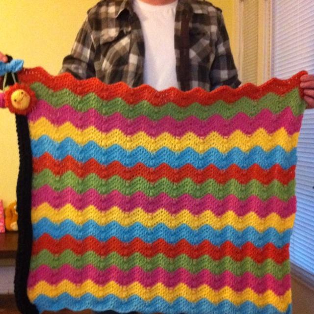 Baby rainbow blanket crochet....