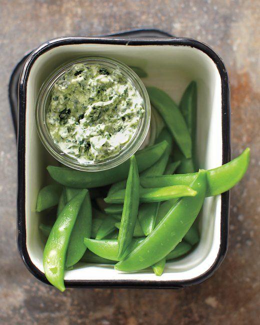 Kale Dip with Snap Peas Recipe