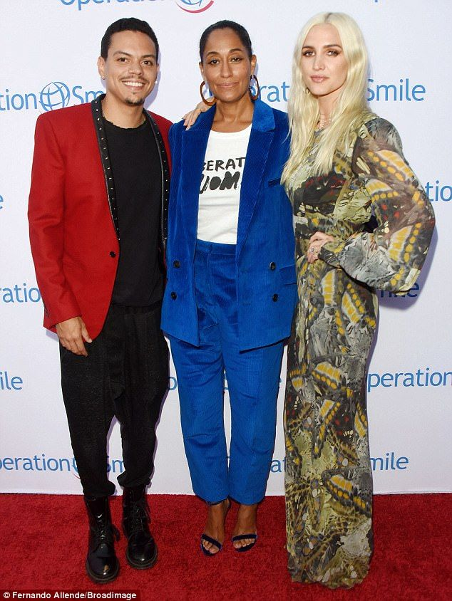 Diana Ross Tracee Ellis Ross >> Tracee Ellis Ross Presents Operation Smile Award To Brother Evan Ross & His Wife Ashlee Simpson ...