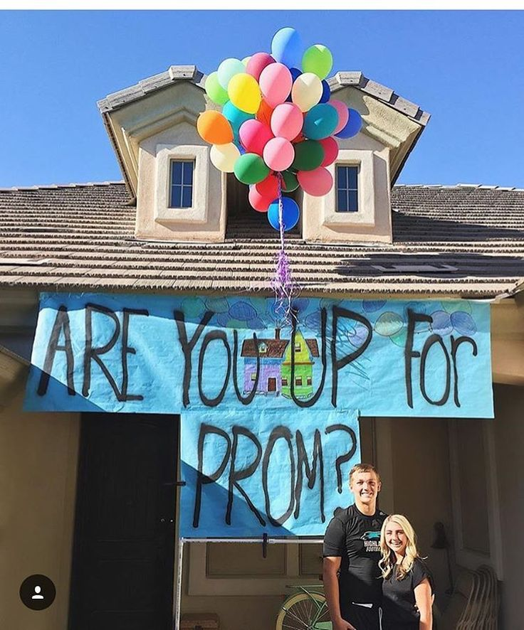 Sooo cute!! DIY Are you up for prom proposal with balloons. | Ledyz Fashions || www.ledyzfashions.com