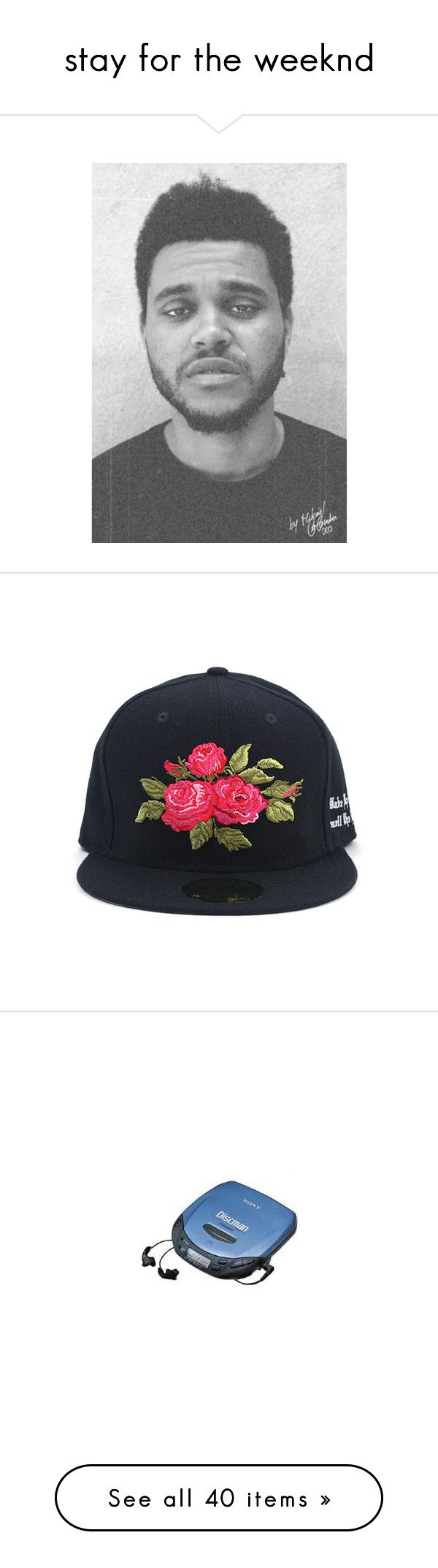 """""""stay for the weeknd"""" by yiemanja ❤ liked on Polyvore featuring people, accessories, hats, black, snapback, adjustable cap, snap back caps, black snapback, black hat and cap snapback"""