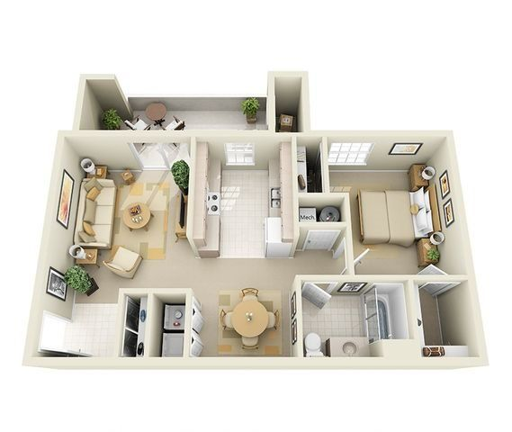 Latigo 1 Bedroom 1 Bathroom Floor Plan Sims House Plans Sims House Design Home Building Design