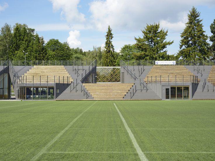 Lidingövallen Small Football Stadium, Lidingö, Sweden / DinellJohansson © Mikael Olsson