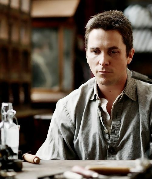 Christian Bale, Alfred Borden - The Prestige directed by Christopher Nolan (2006)
