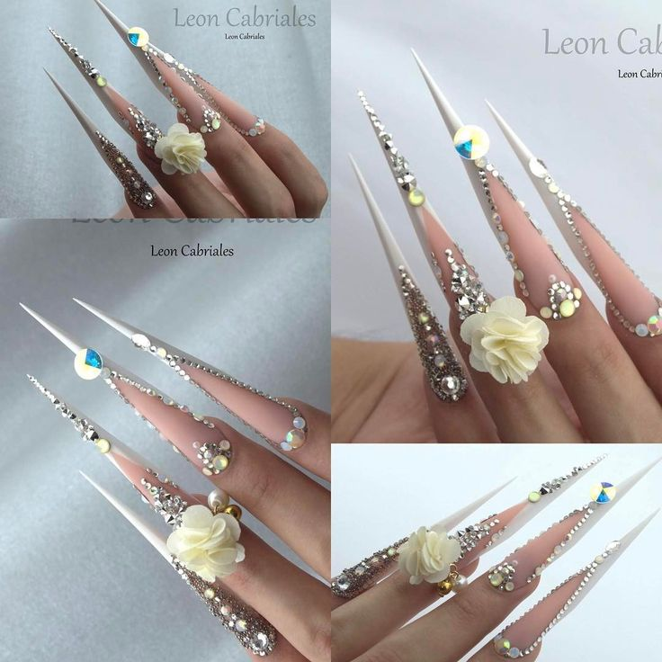 """756 Likes, 17 Comments - Leon Cabriales (@leon_cabriales) on Instagram: """"New form Flex! Wedding luxury design  #nails #nail3d #nailss #nailpolish #nailswag #naildesign…"""""""