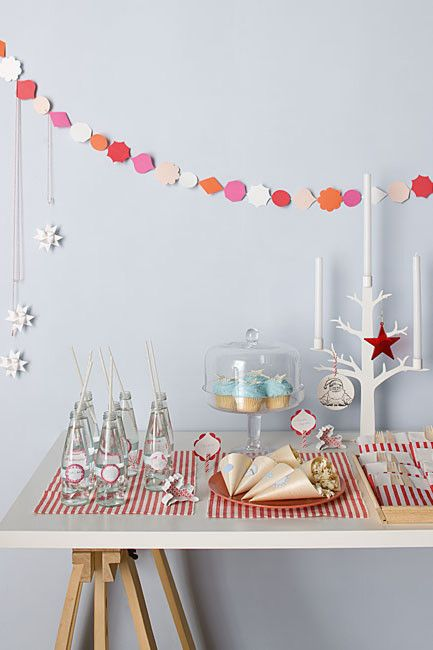 Cute Christmas table setting
