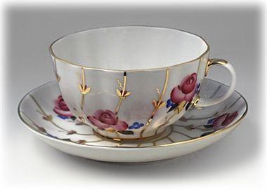 Antique Roses Tea Cup & Saucer