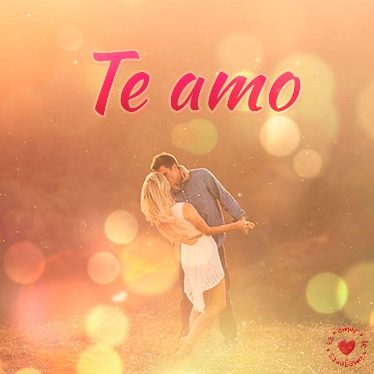 linda pareja bailando con frase te amo