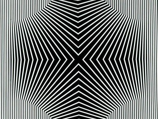 Franco Grignani: Negativo,Positivo sensoriale,Tecnica mista 70x70, 1965