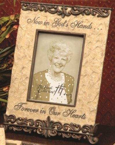 now in gods hands memorial frame