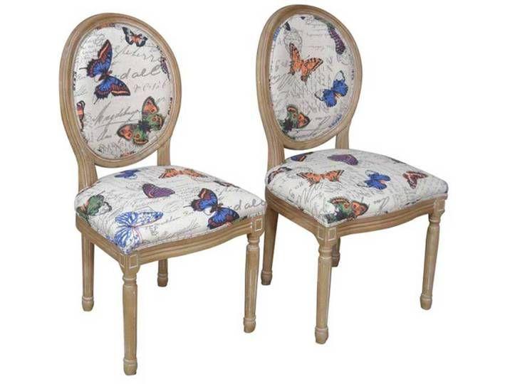 Polsterstuhl Im Schmetterling Design Birke Massiv Stoff 2er Set Furniture Decor Chair