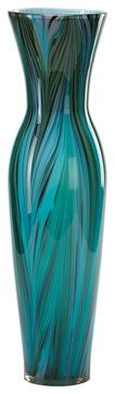 Cyan Design Lighting 02921 Tall Peacock Feather Vase transitional-vases