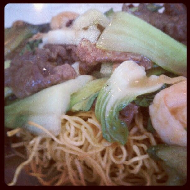"""Combination chow mein @ Asian cafe express, mesa"""