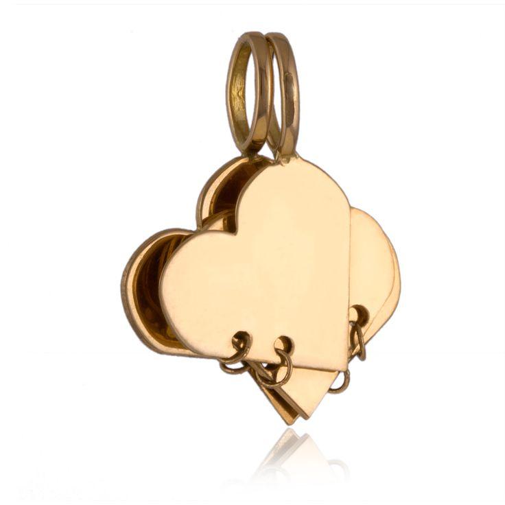 Pendentif femme, or jaune, 2.05g Trèfle et coeur  #LeManegeABijoux #SaintValentin