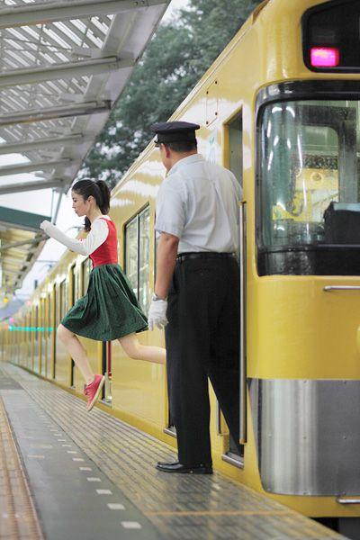 amazing self portrait levitations by Natsumi Hayashi - love her work