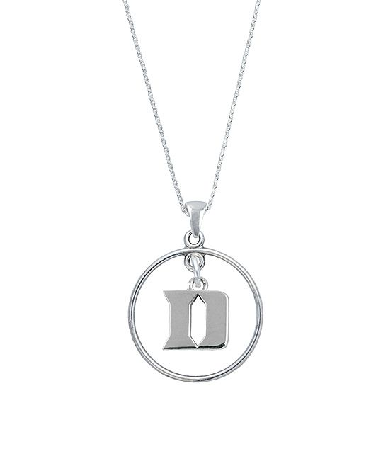 Duke Blue Devils Sterling Silver Open Pendant Necklace