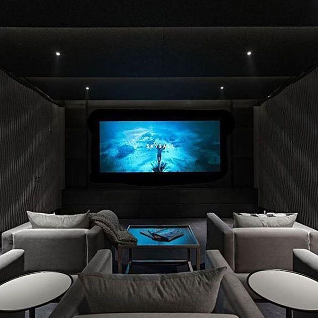 127 best home theatre images on pinterest home - Sala de cine en casa ...