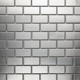 martini mosaic 39 essen 39 stainless steel 12x12 inch tile