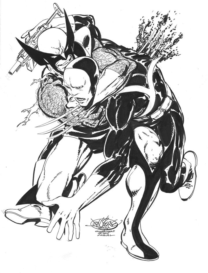 """Wolverine takes out a Hellfire Club mercenary"" by John Byrne #johnbyrne #wolverine"
