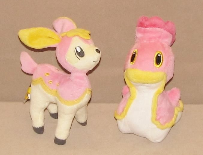 Jakks Pacific Pokemon Pink Yellow Shellos Deerling Plush Stuffed Toys Lot Of 2 #JAKKSPacific