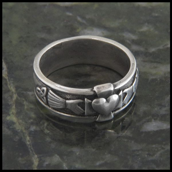 Sterling Silver Claddagh Cross Ring