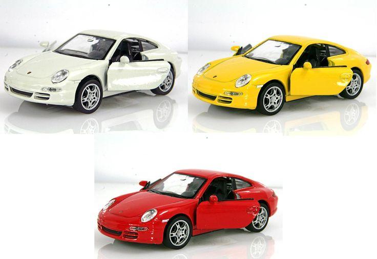 PORSCHE 911 BIANCA 1:36 Modellino metallo c/molla richiamo cm 12x5x3,3 Per bambini