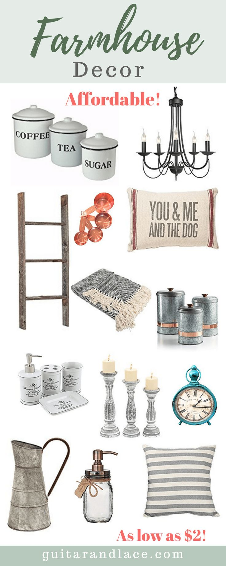 Farmhouse Decor, affordable, on a budget, budget friendly, all budgets, farmhouse kitchen, farmhouse
