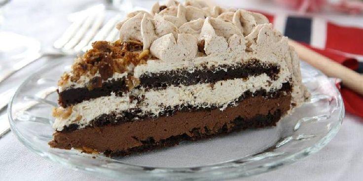 Bakelyst.no: Dette er kaken for deg som digger fylde, kaffe og en lun sjokoladesmak ... Den inneholder verken egg, melk eller gluten!