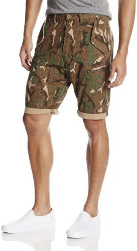 $108, Olive Camouflage Shorts: French Connection Painted Camouflage Short. Sold by Amazon.com. Click for more info: https://lookastic.com/men/shop_items/206090/redirect