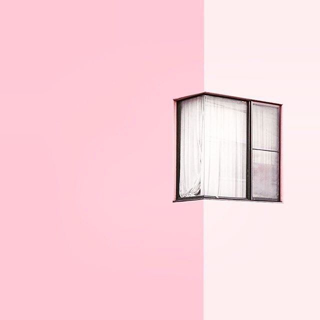 : @graphicporn  #pink #window #view #inspiration #photo #chill  #minimal #minimalism #minimalarchy #design #architecture #gooddesign #simplicity #archilovers #aesthetics #graphic #clean