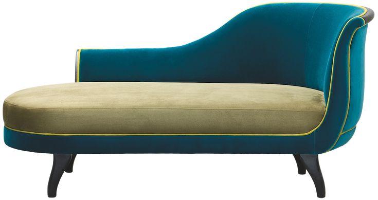 Chaise longue Toulouse Bras droit, tapissée