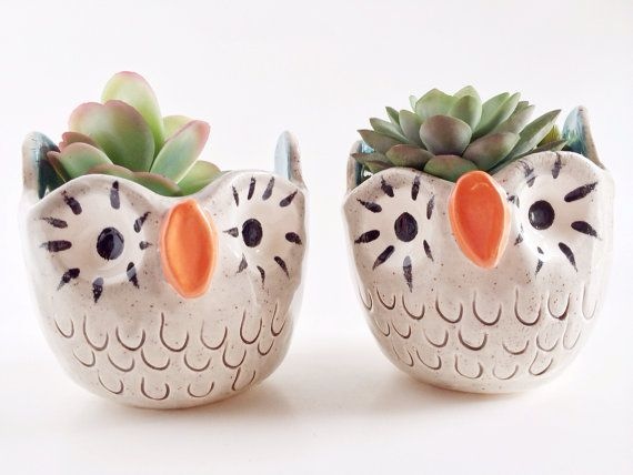 Owl Planter  Pinned by www.myowlbarn.com