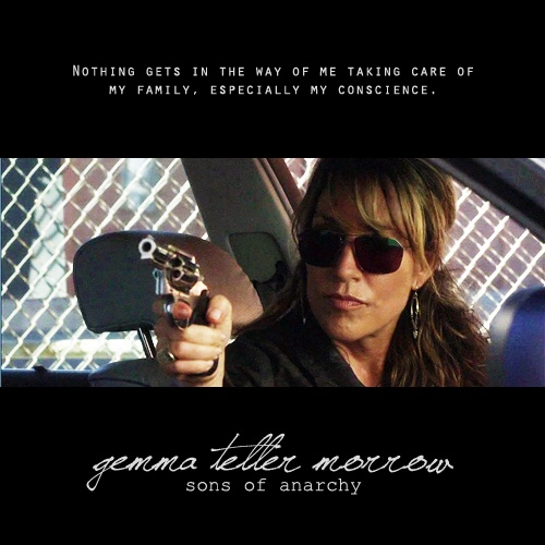 Gemma Teller on point. My all time favorite female actress. one bad ass bitch.