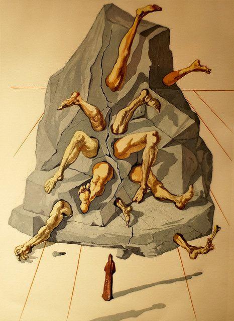 Salvador Dali Drawing 9 - illustration for Dante's Divine Comedy - 1960/1964