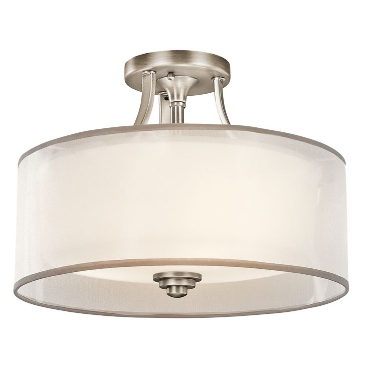 Lacey Collection 3 light Semi Flush Ceiling in Antique Pewter